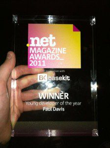 .net Young Developer of the Year 2011